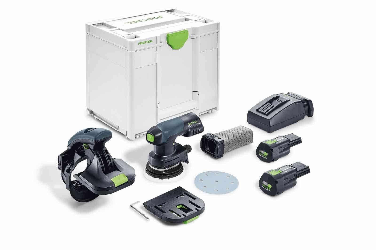 Festool Ponceuse de chants sans fil Es-Etsc 125 I-Plus + 2 batteries 3.1Ah + chargeur rapide + systainer