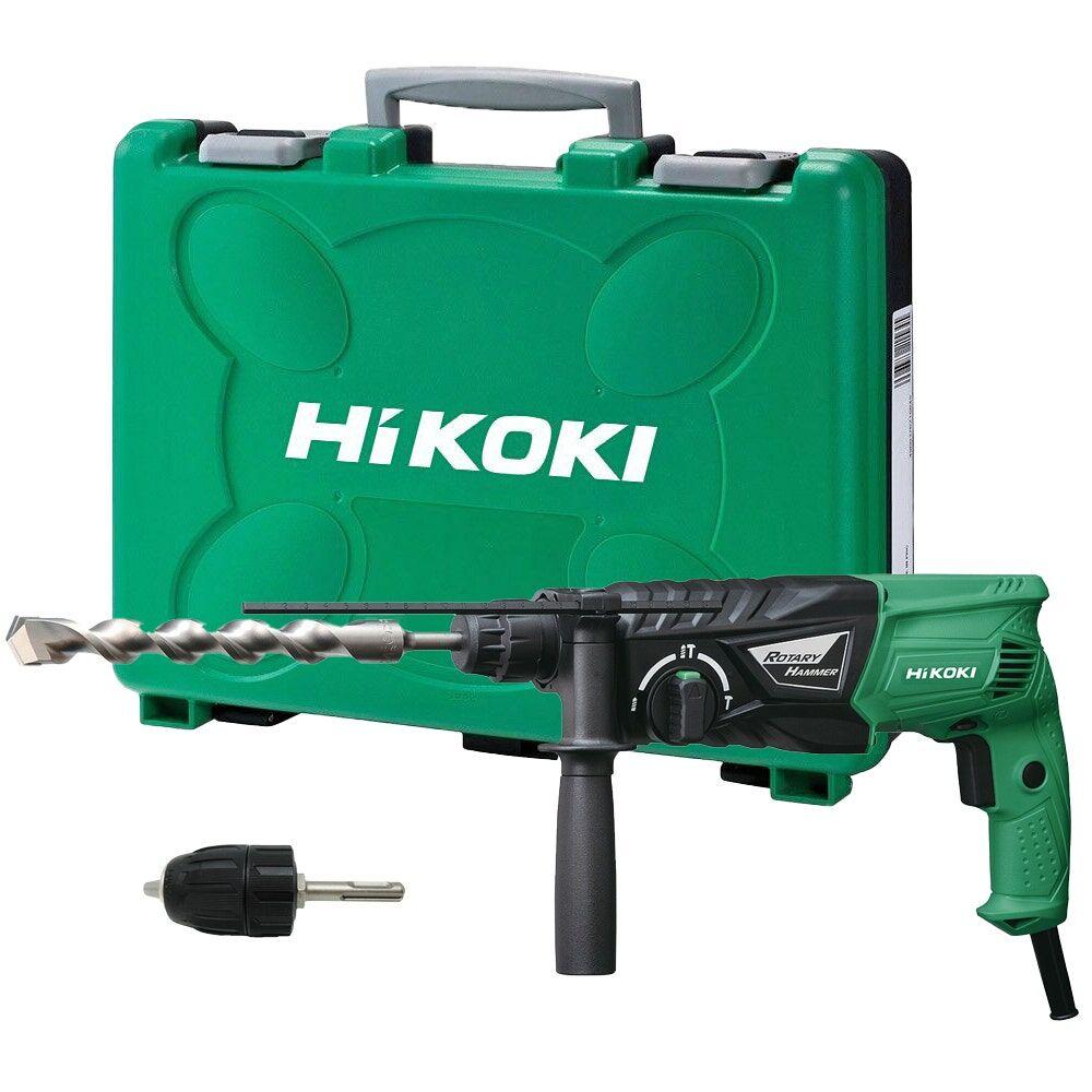 Hikoki Perforateur 24mm SDS plus 730W 2.7 Joules + mandrin + poignée + butée + coffret