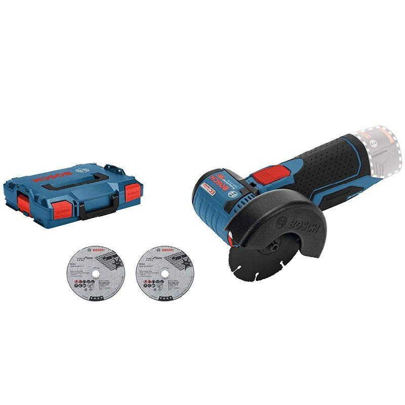 Bosch Meuleuse angulaire sans fil Bosch GWS 12V-76 (sans batterie ni chargeur) + 3 disques à tronçonner + L-Boxx