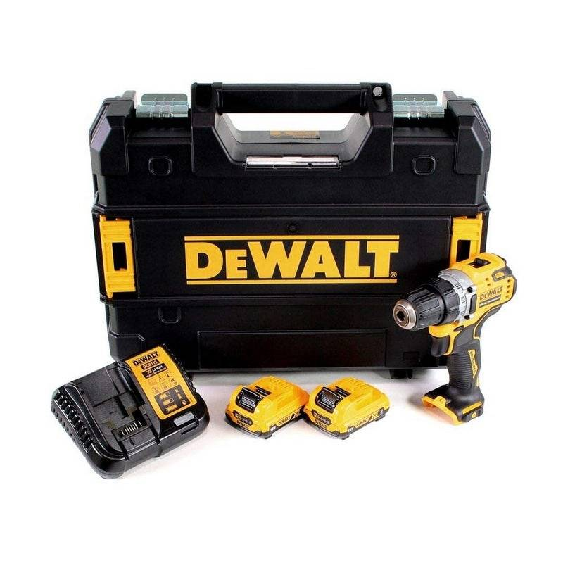 Dewalt Perçeuse-visseuse XR Brushless 12V + 2 batteries 2Ah Li-ion + chargeur + coffret Tstak