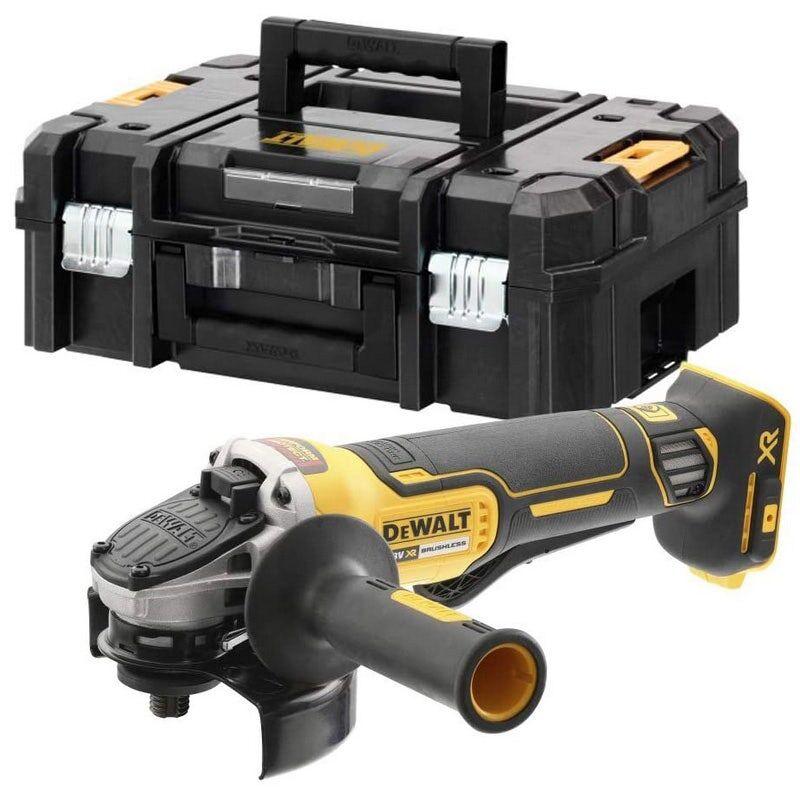 Dewalt Meuleuse sans fil XR Brushless 18V 125mm (sans batterie ni chargeur) + poignée latérale + carter de protection + coffret Tstak