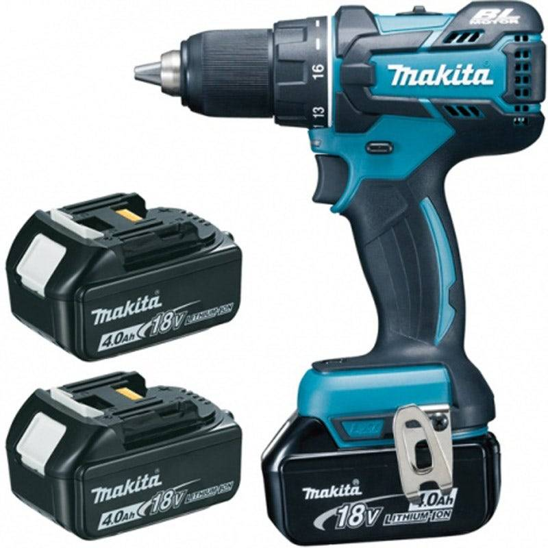 Makita Perceuse visseuse 18 V Li-ion 4 Ah Ø 13 mm 3 batteries