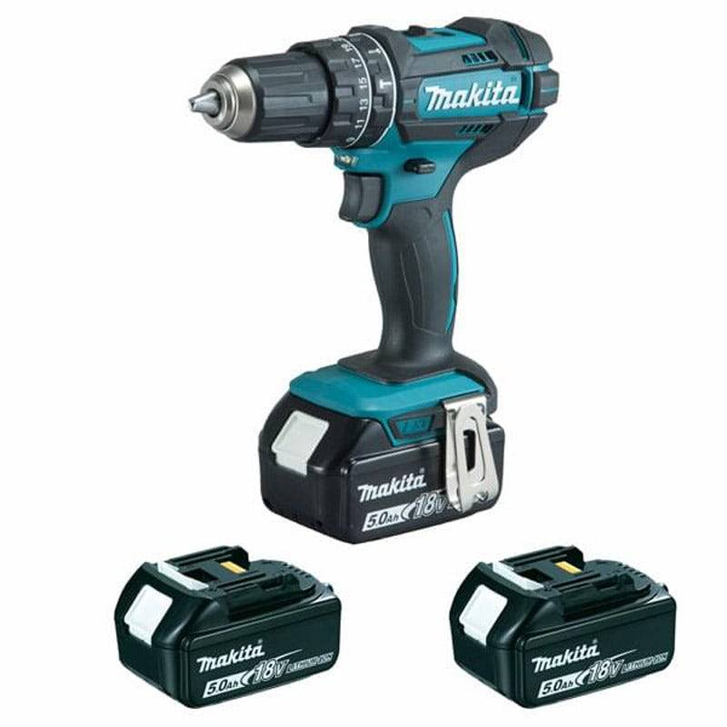 Makita Perceuse visseuse à percussion 18v li-ion 5Ah ø13 mm