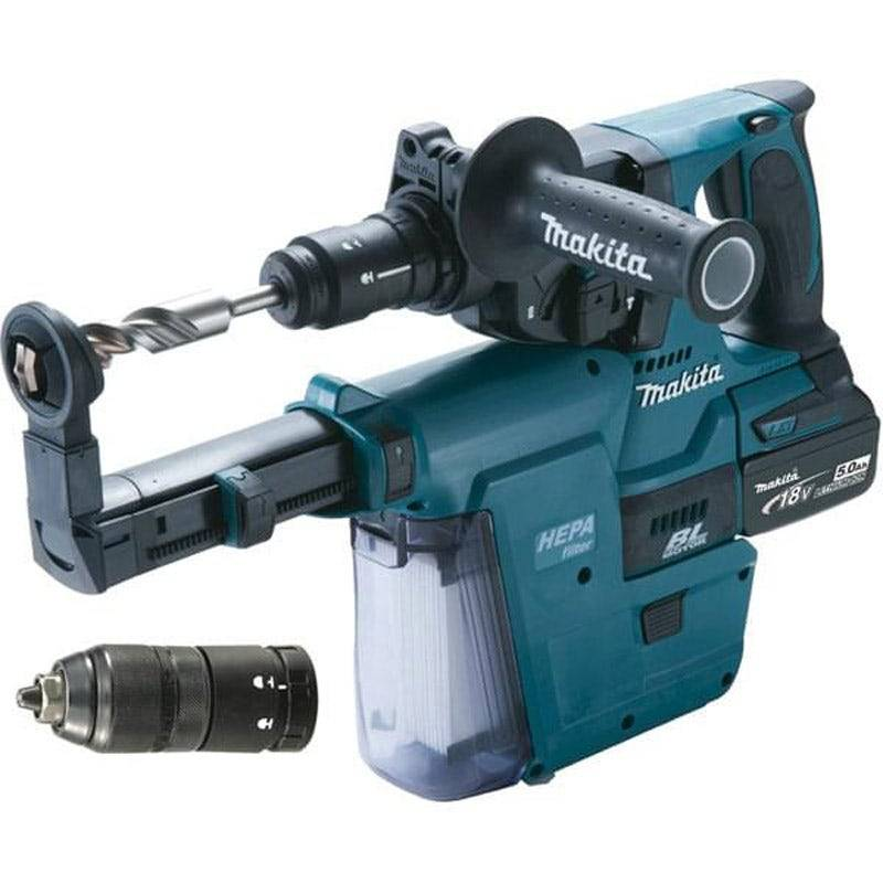Makita Perfo-burineur sds-plus 18 v li-ion 5 ah 24 mm