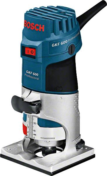 Bosch Affleureuse GKF 600 en coffret de transport