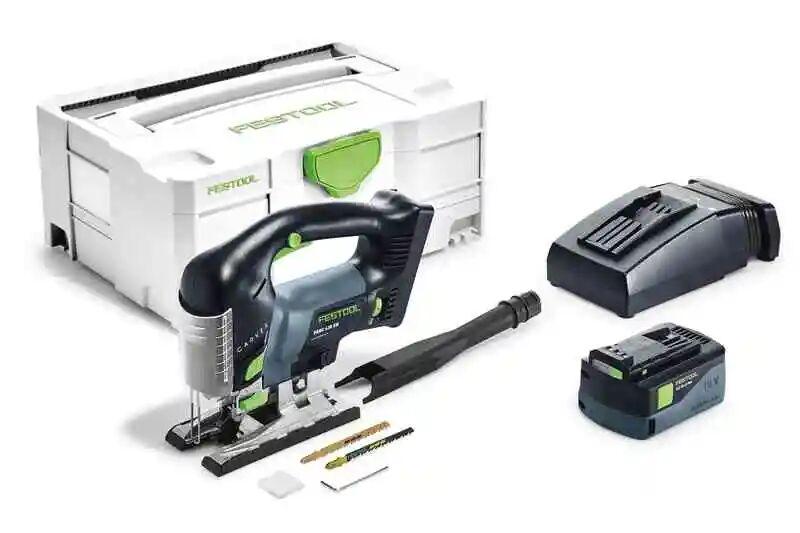 Festool Scie sauteuse sans fil Carvex Psbc 420 HPC 4 EBI-Plus + 1 batterie 4Ah + chargeur + accessoires + systainer