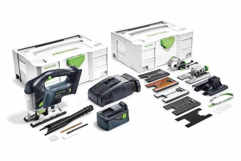 Festool Scie sauteuse sans fil Carvex Psbc 420 EBI-Set + 1 batterie 4Ah + chargeur rapide + systainer 13 accessoires + systainer