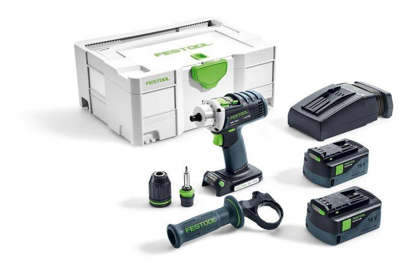 Festool Perceuse-visseuse sans fil DRC 18/4 Li 5,2-Plus Quadrive
