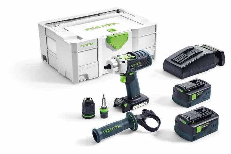 Festool Perceuse-visseuse à percussion sans fil PDC 18/4 Li 5,2-Plus QUADRIVE Festool 574702