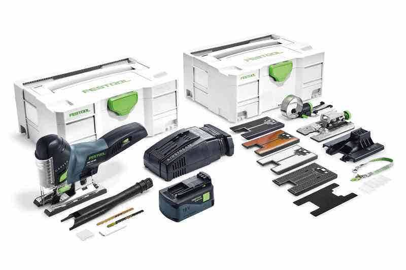 Festool Scie sauteuse sans fil Carvex PSC 420 EBI-Set + 2 batteries 4Ah + chargeur rapide + systainer 13 accessoires + systainer