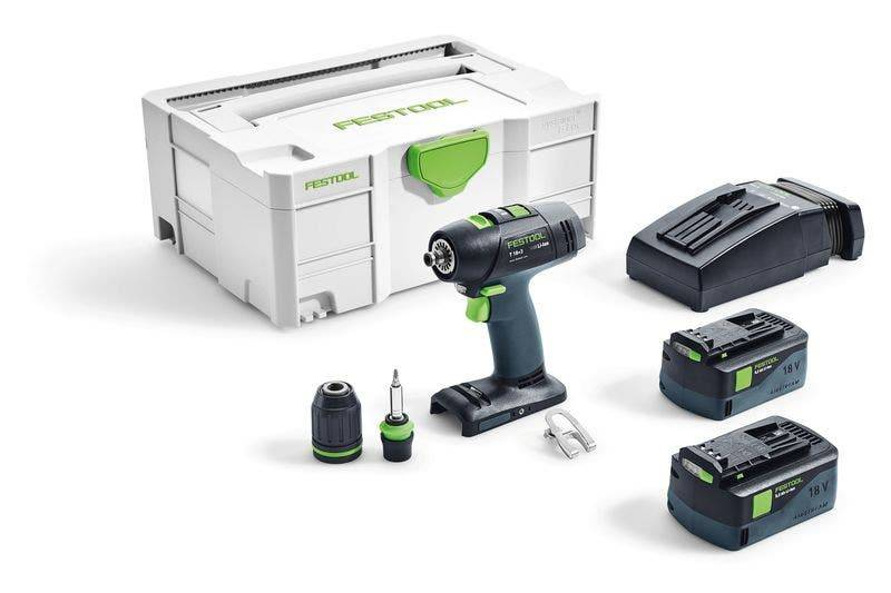 Festool Perceuse-visseuse sans fil T 18+3 Li 5,2-Plus Festool 574756