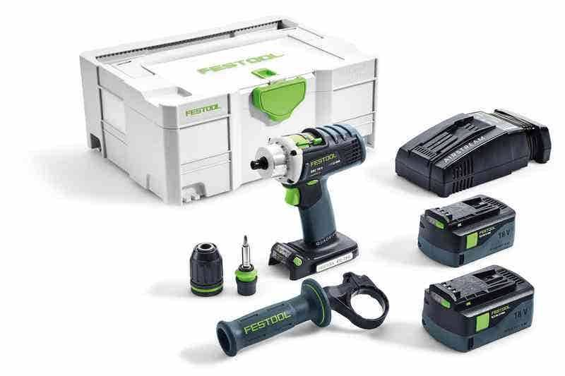 Festool Perceuse-visseuse sans fil DRC 18/4 Li 5,2-Plus-SCA Quadrive