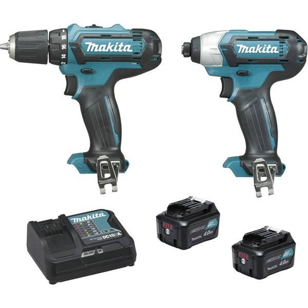 Makita Ensemble de 2 machines 12 V CXT Li-Ion 4 Ah CXT (Df331D + Td110D)