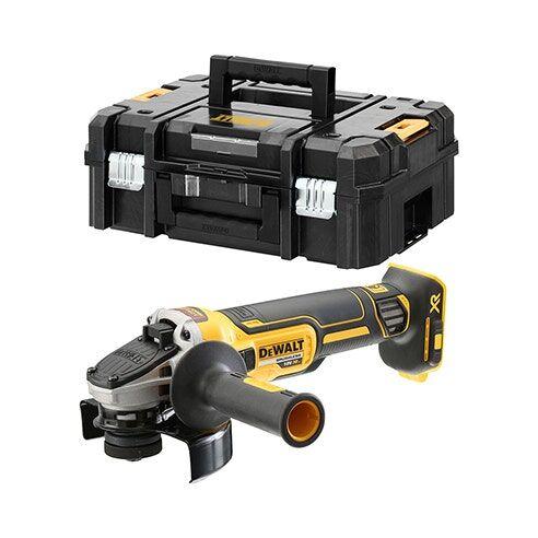 Dewalt Meuleuse XR 18V 125mm Brushless (sans batterie ni chargeur) + accessoires + coffret