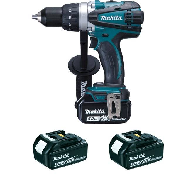 Makita Perceuse visseuse 18 V Li-Ion 5 Ah Ø 13 mm (3 batteries)
