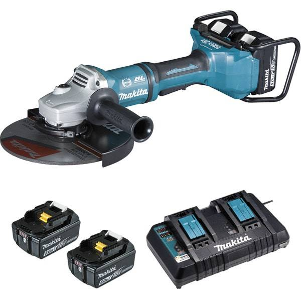Makita Meuleuse Ø 230 mm 36 V 2 x 18 V Li-Ion 5 Ah (4 batteries)