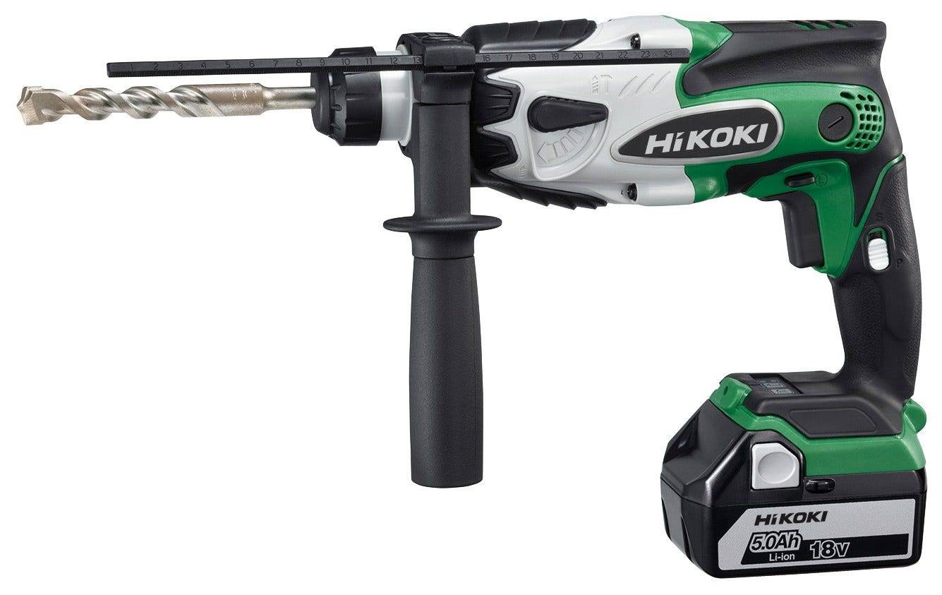 Hikoki Perforateur 16 mm SDS + 18 V - 5.0 Ah Li-ion - 1,4 Joules - 2,2 Kg