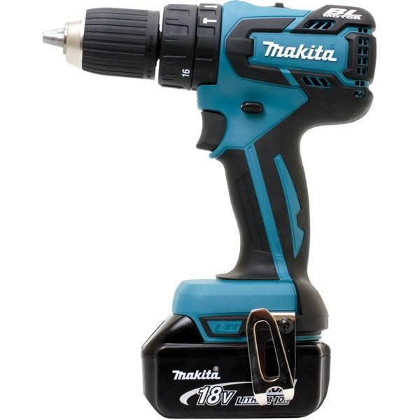 Makita Perceuse visseuse à percussion 18 V Li-Ion 4 Ah Ø 13 mm Makita DHP459RMJ