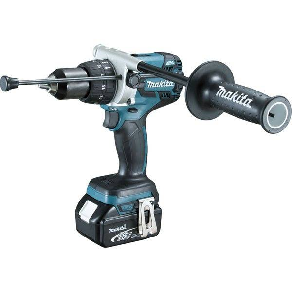 Makita Perceuse visseuse à percussion 18 V Li-Ion 5 Ah Ø 13 mm