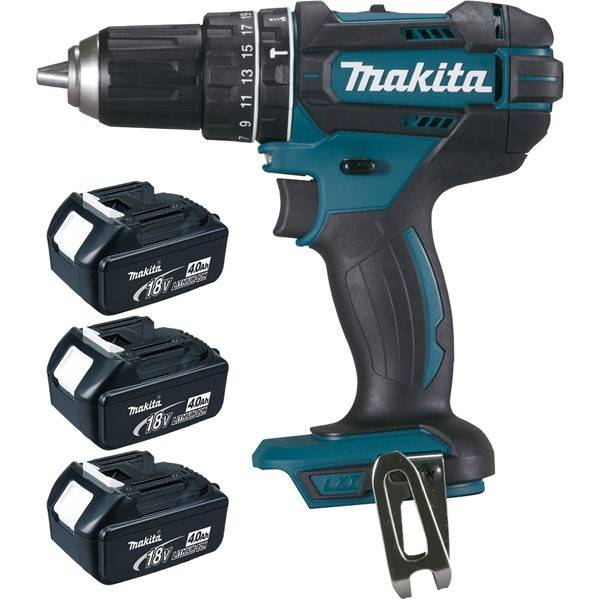 Makita Perceuse visseuse à percussion 18 V Li-Ion 4 Ah Ø 13 mm (3 batteries) Makita DHP482RM3J