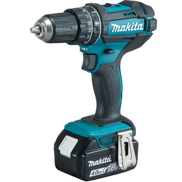 Makita Perceuse visseuse à percussion 18 V Li-Ion 4 Ah Ø 13 mm