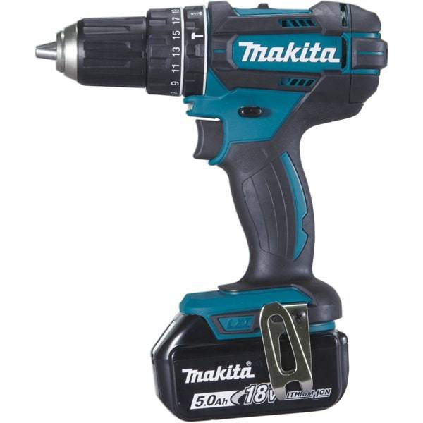 Makita Perceuse visseuse à percussion 18 V Li-Ion 5 Ah Ø 13 mm Makita DHP482RTJ