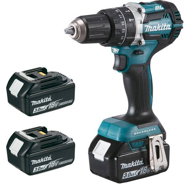 Makita Perceuse visseuse à percussion 18V Li-ion 3 Ah Ø 13mm Makita DHP484RF3J