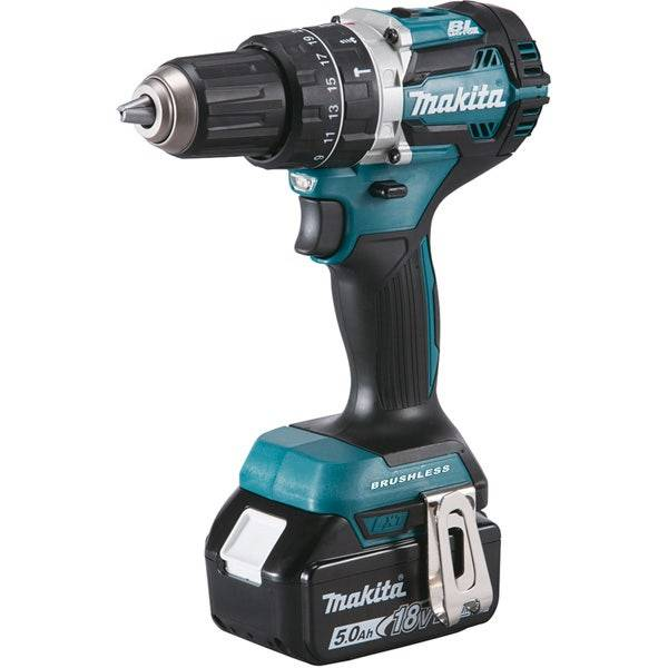Makita Perceuse visseuse à percussion 18 V Li-ion 5 Ah Ø 13 mm Makita DHP484RTJ