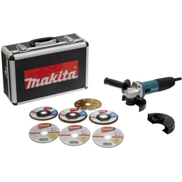 Makita Meuleuse Ø125mm 720W + accessoires + coffret alu