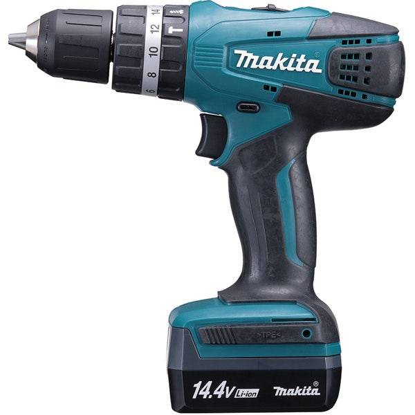 Makita Perceuse visseuse à percussion 14,4 V Li-Ion 1,3 Ah Ø 10 mm