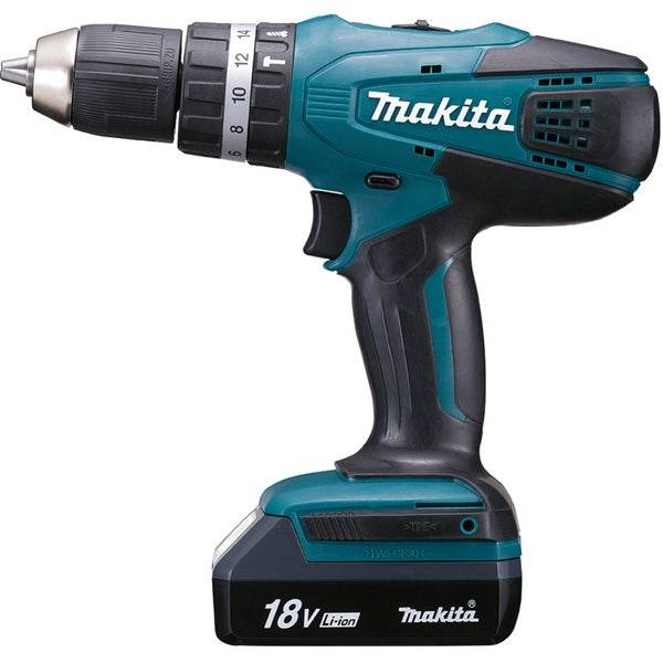 Makita Perceuse visseuse à percussion 18 V Li-Ion 1,3 Ah Ø 13 mm Makita HP457DWE