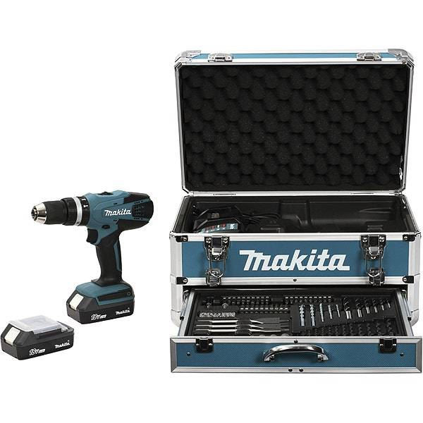 Makita Perceuse visseuse à percussion 18 V Li-Ion Makita HP457DWEX4