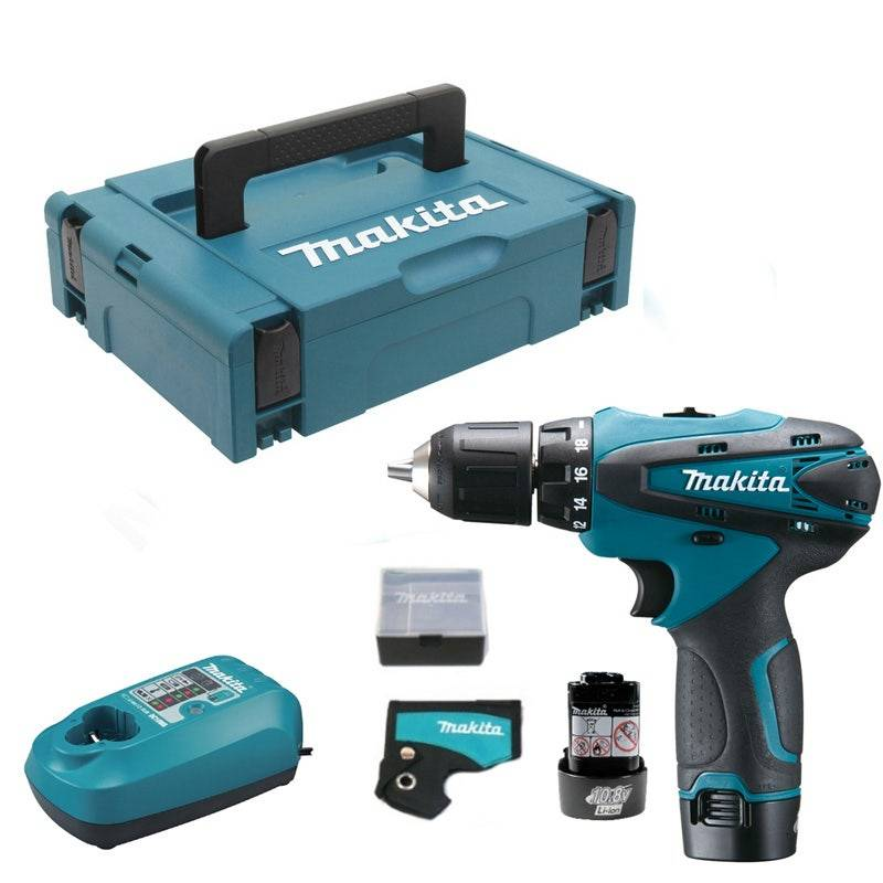 Makita Perceuse visseuse 10,8 V Li-Ion 1,3 Ah Ø 10 mm