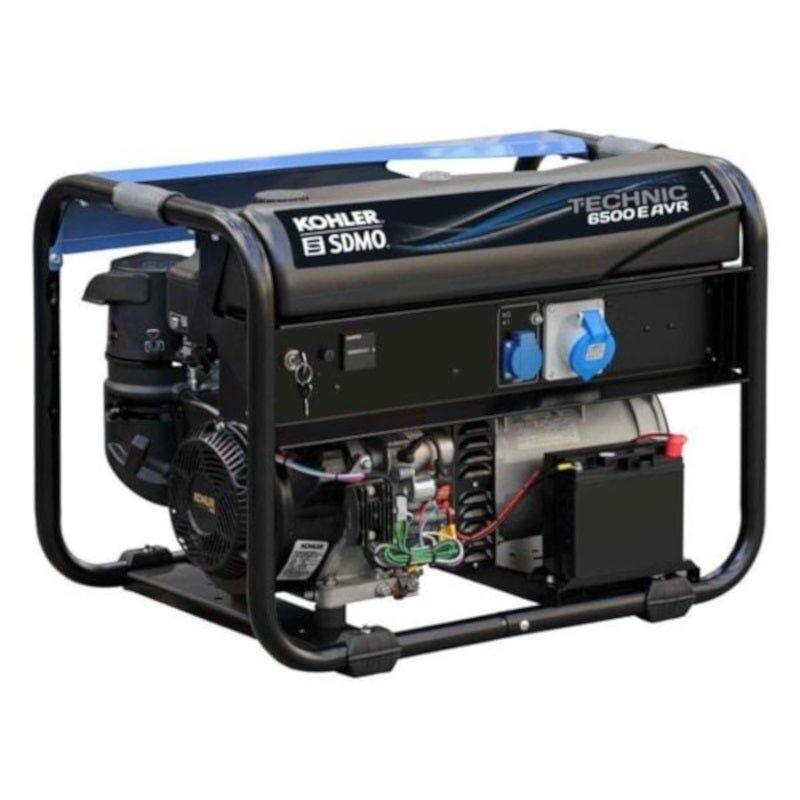 Sdmo Groupe électrogène monophasé essence Technic 6.5 kW AVR