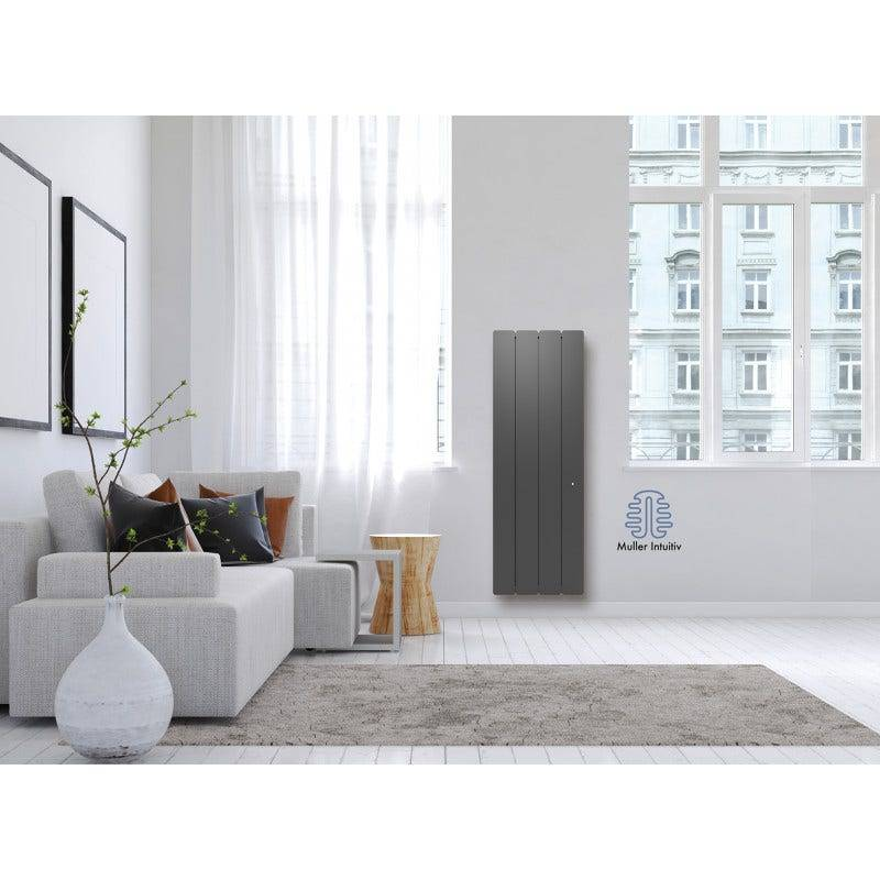 Noirot Radiateur Bellagio Smart Ecocontrol vertical 2000w gris anthracite