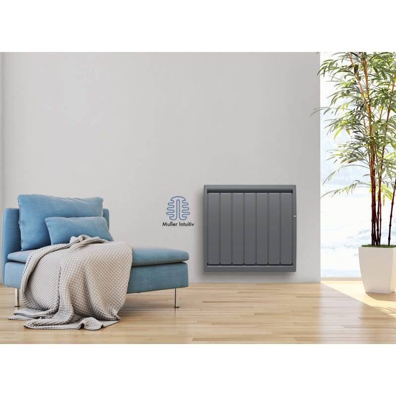 Noirot Radiateur Calidou Smart Ecocontrol horizontal 1500w gris anthracite