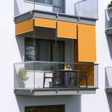 Jarolift Store Extérieur Vertical, Orange, 240 x 240 cm