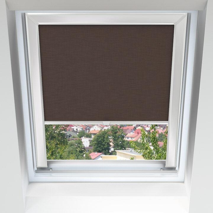 Livani Store pour les fenêtres de toit, Sur mesure, Chocolat