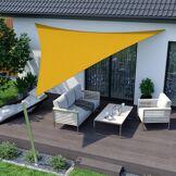 Jarolift Voile d'ombrage triangulaire, imperméable, jaune, 300x300x300 cm