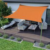Jarolift Voile d'ombrage carrée, tissu respirant, orange, 500x500 cm