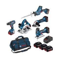 BOSCH Pack 5 outils 18V 4Ah - KIT5OUT18V4 - 0615990L59