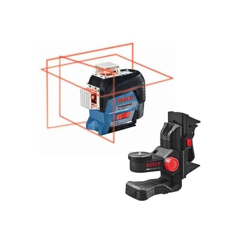 BOSCH Laser lignes auto 3 plans 30m GLL3-80C + BM1 L-BOXX - 0601063R02