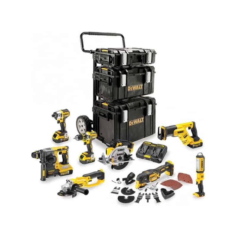 DEWALT Pack 8 outils XR Li-ion 18V 5Ah - DCK853P4