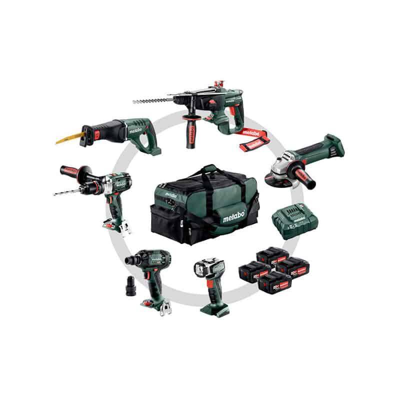 METABO Pack 6 outils 18V 4x4Ah - 691008000