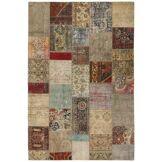 Nain Trading Tapis Patchwork 297x201 Moderne/Design Gris/Marron Foncé (Noué à la main, Laine, Perse/Iran)