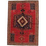 Nain Trading Tapis D'orient Afshar 242x168 Gris Foncé/Rouille (Laine, Perse/Iran, Noué à la main)