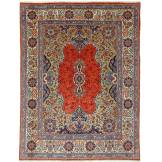 Nain Trading Tapis Persan Sarough 306x233 Sarough Gris Foncé/Beige (Noué à la main, Perse/Iran, Laine)