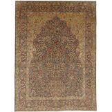 Nain Trading Tapis D'orient Kerman Antique 396x292 Marron Foncé (Laine, Perse/Iran, Noué à la main)