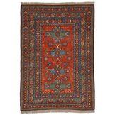 Nain Trading Tapis Authentique Azerbaidjan Ancien 180x126 Gris Foncé/Rouille (Laine, Russie, Noué à la main)