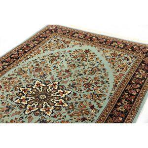 Nain Trading Tapis D'orient Eilam Chaîne de Soie 216x139 Gris Foncé/Beige (Perse/Iran, Laine/Soie, Noué à la main)